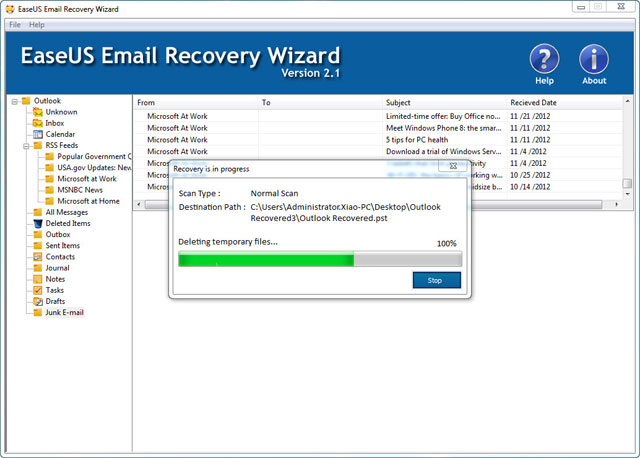 EaseUS Email Recovery Wizardユーザーガイド、その3