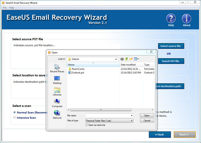 EaseUS Email Recovery Wizardユーザーガイド、その2